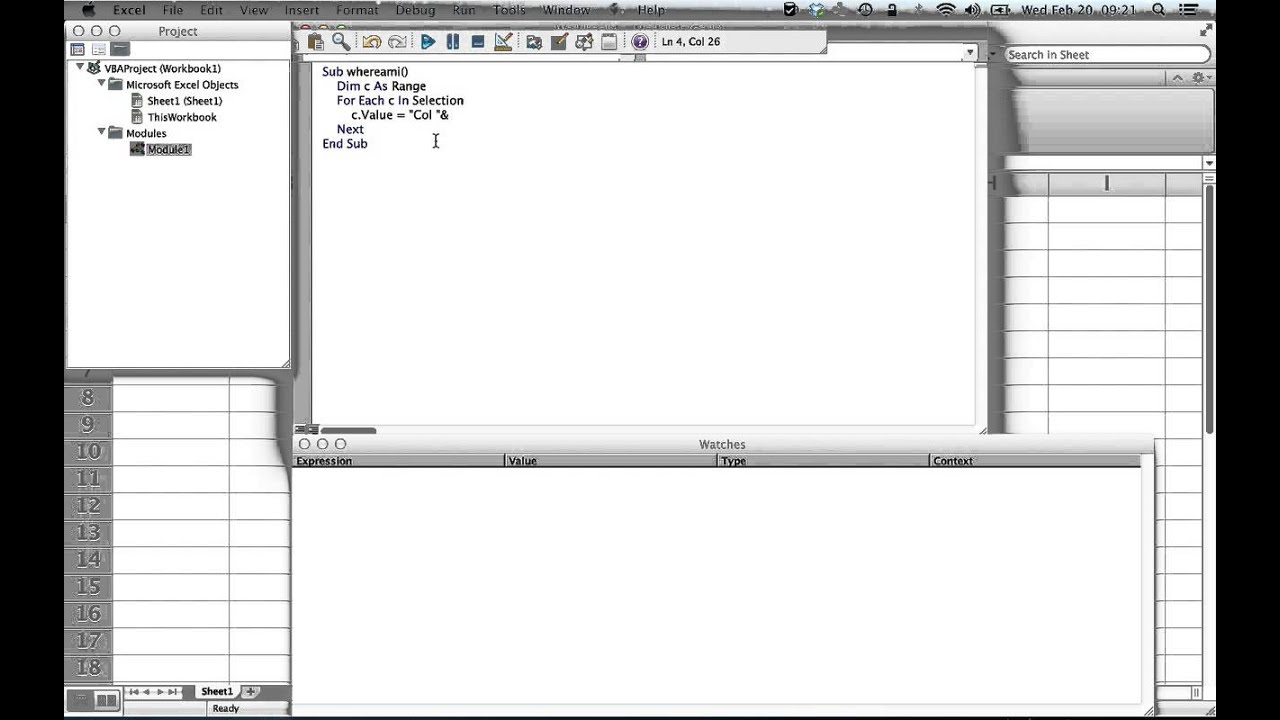 excel vba how to loop through selected cells youtube