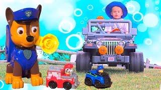 Щенячий Патруль и Дори с Неми Пускают Мыльные Пузыри С Мультфильма Для Детей Paw Patrol Toys Kids