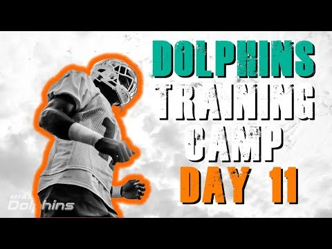 Miami Dolphins Training Camp Day 11!/ Last Practice Before Game!!