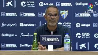 Rueda de prensa de  Álvaro Cervera tras el Málaga CF vs Cádiz CF (1-2)