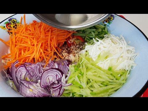 Просто,Дёшево и Вкусно Салат Овощное Ассорти по Корейски