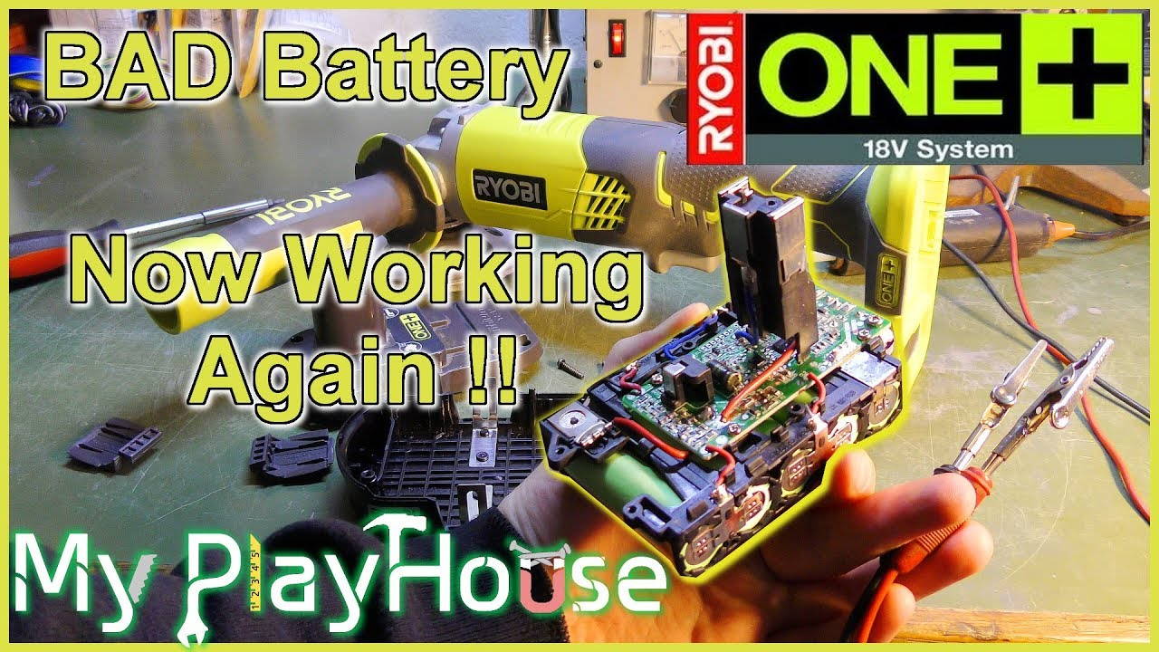 How To Revive A Dead Ryobi 18 Volt Lithium Battery 582