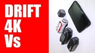 Drift 4K Review   Drift 4K Vs GoPro Session 5 Vs TomTom Bandit Vs iPhone X Vs Drift Ghost S