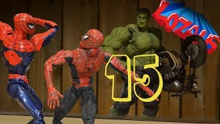 SPIDERMAN STOP MOTION Action Video Part 15 Homecoming