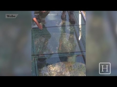 Glass -Bottom Bridge Cracks Under Tourists
