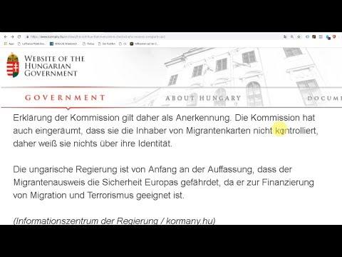 EU-Kommission gesteht ANONYME Finanzierung von Zuwanderern. Ungarn fürchtet Terror-Finanzierung