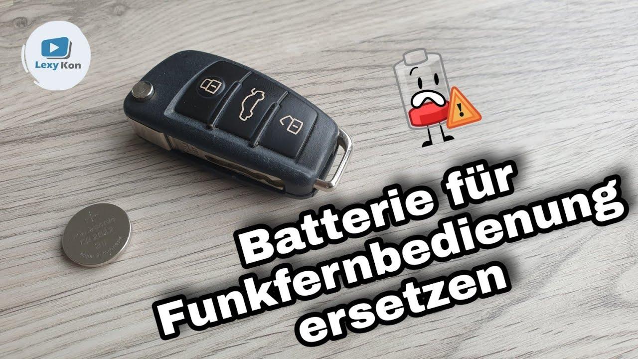 Batterie Auto Autoschlussel Funkfernbedienung Audi Wechseln 2020 Youtube
