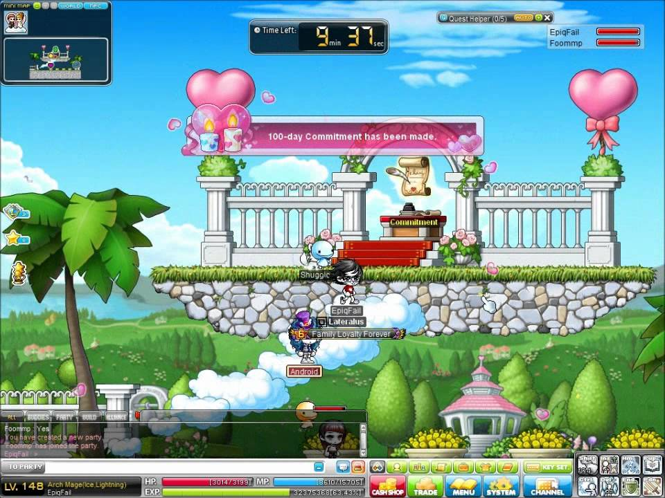 Maplestory GMS Mardia 100 Day Commitment Ceremony We just got