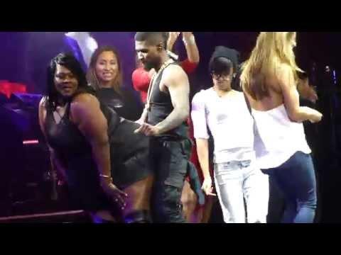 """""""Superstar & Bad Girl & Fans Dancing On Stage"""" Usher@Wells Fargo Center Philadelphia 11/11/14"""