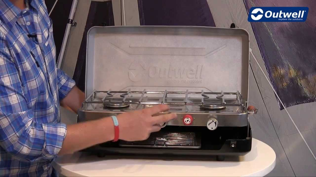outwell gourmet 3 burner stove with grill | innovative family