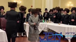 Satmar Rebbe dancing at the wedding of his brother's grandchildren