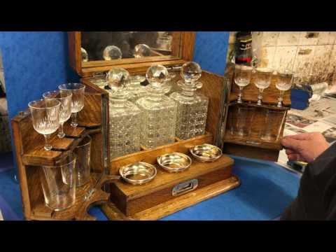 Antique Oak Liquor box abinbet, c.1880 For Sale Online