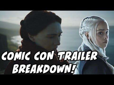 Game Of Thrones Season 7 Comic Con Trailer BREAKDOWN