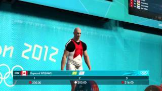 London 2012 The Official Video Game of the Olympic Games Weightlifting Gameplay [ PC HD ]