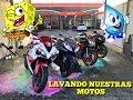 LAVANDO LAS MOTOS A TODO COLOR!!