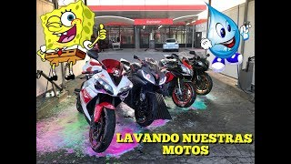 LAVANDO LAS MOTOS A TODO COLOR!!