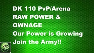 wow legion unholy dk 110 pvp arena raw power ownage