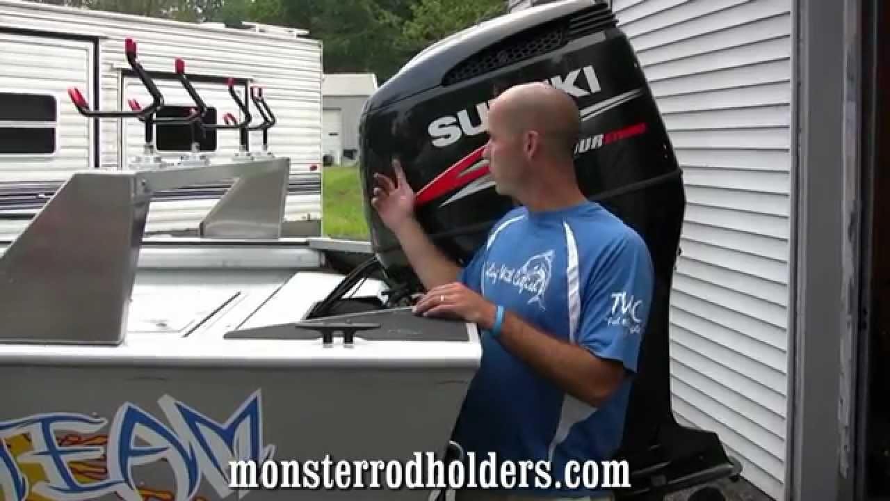 Catfishing Rod Rack:Monster Rod Holders - YouTube