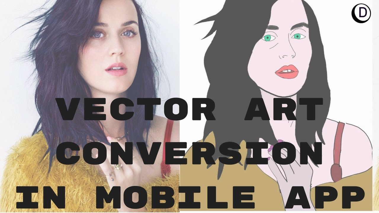 Vector Line Art Converter : How to make vector image katy perry tutorial photo