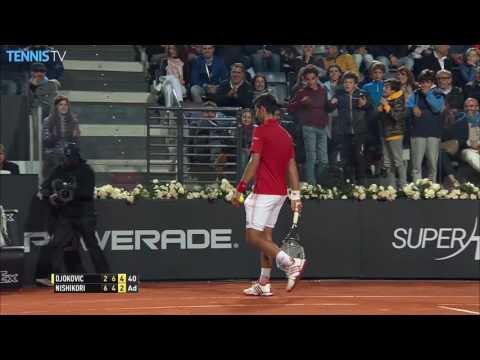 Djokovic Breaks String, Doesn't Realise Rome 2016