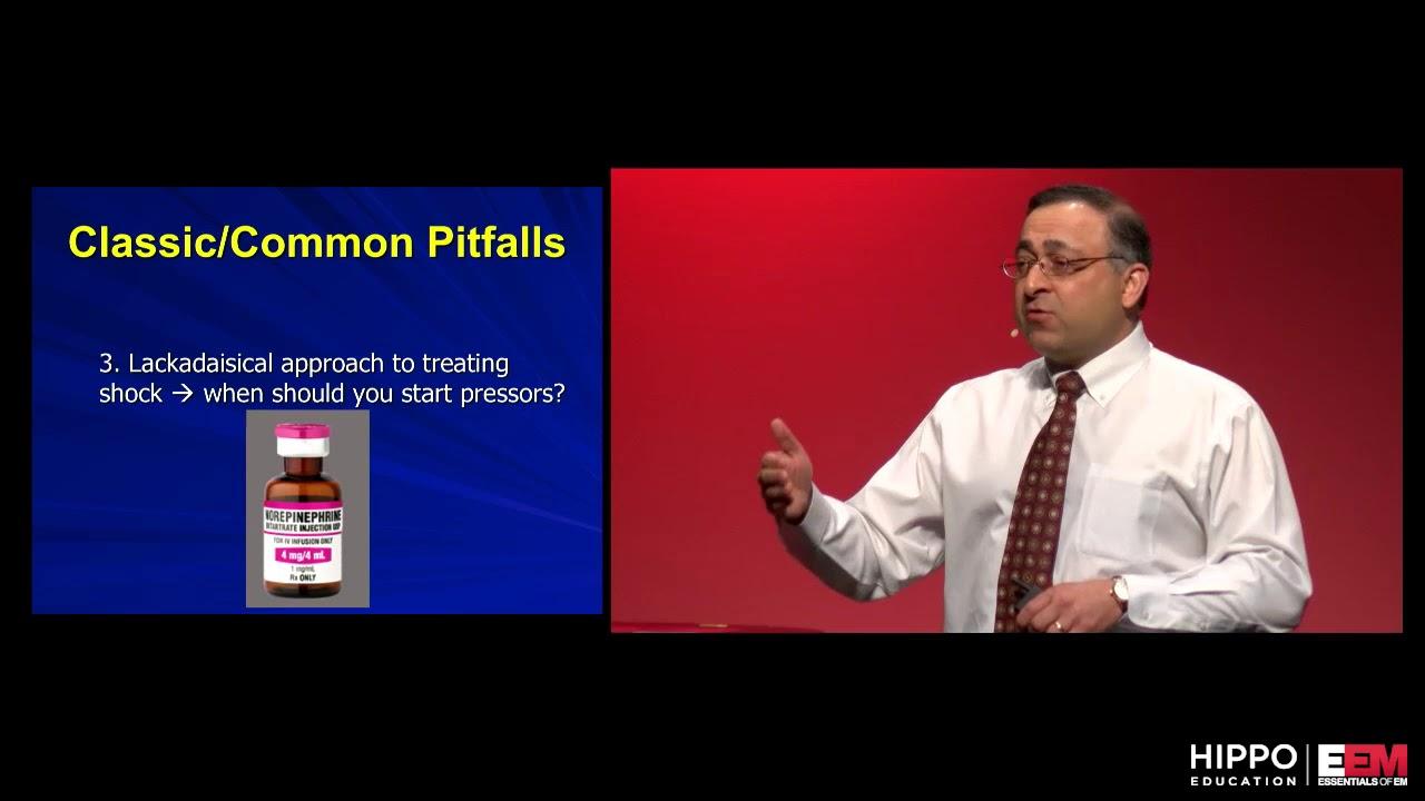 5 Common Errors in Shock, Amal Mattu, Essentials of Emergency Medicine 2018