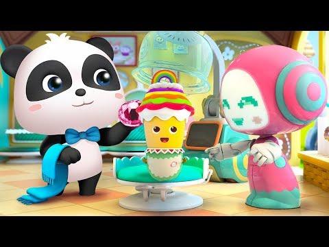 杯子蛋糕的彩色造型 | 最新學顏色兒歌童謠 | 卡通 | 動畫 | 寶寶巴士 | BabyBus