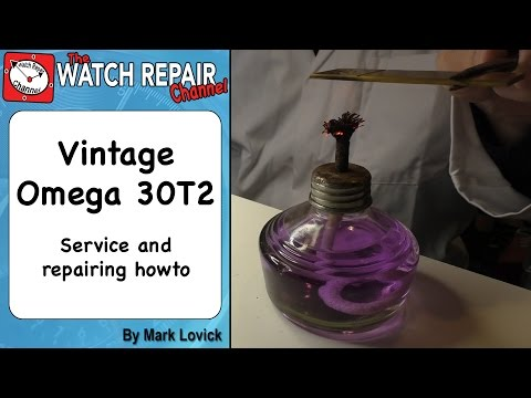 Omega 30T2 Military Watch Service and Jewel Replacement and repair tutorial