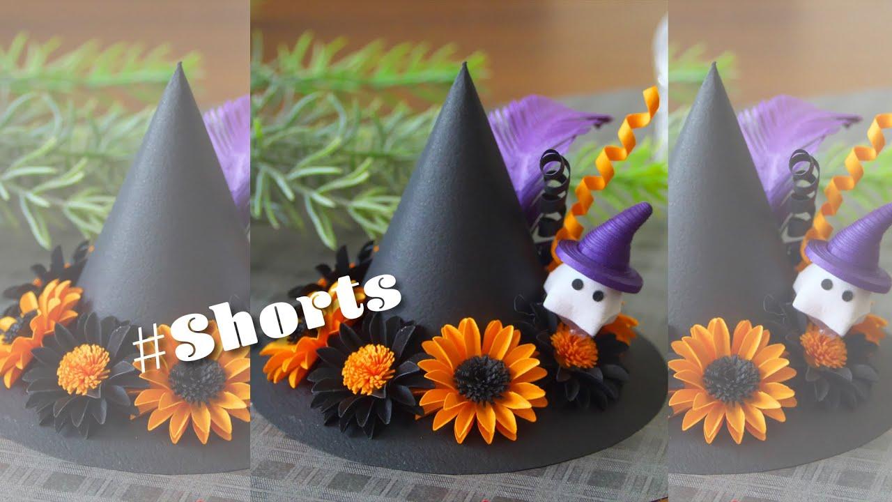 30秒でわかる!紙で作る魔女の帽子【ハロウィン】 30 Seconds ! Paper Witchs Hat / Halloween