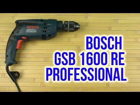 Видео обзор: Дрель ударная BOSCH GSB 1600 RE