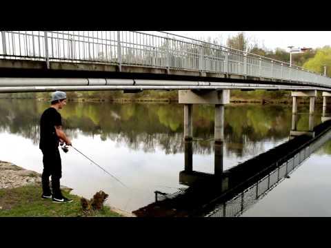 Fischen an der Traun in Lambach