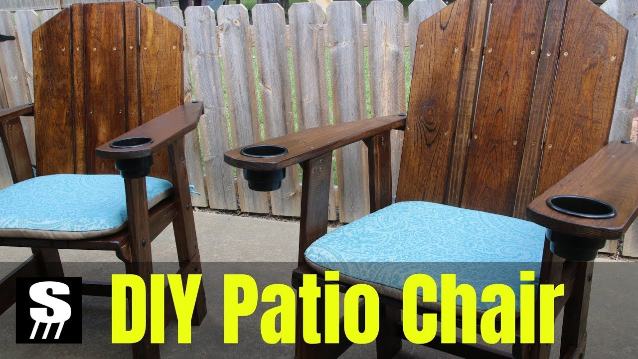 Diy Patio Furniture How To Make A Chair