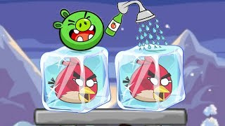 Unfreeze Angry Birds - PIGGIES RESCUE THE FROZEN BIRDS WITH SHOWER WATER LEVELS!