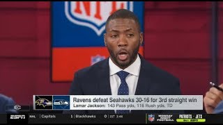 "Ryan Clark ""STRONG REACTS"" Ravens defeat Seahawks 30-16 for 3rd  