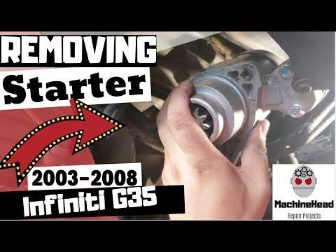 Removing Starter on 2003-2008 Infiniti G35