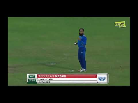 Afghanistan premier league 14 Oct 2018 6 sixes of six ball  hazratullah subscribe my channel