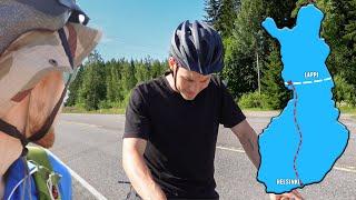 Daniel putosi matkasta..   Pyörällä Lappiin #3