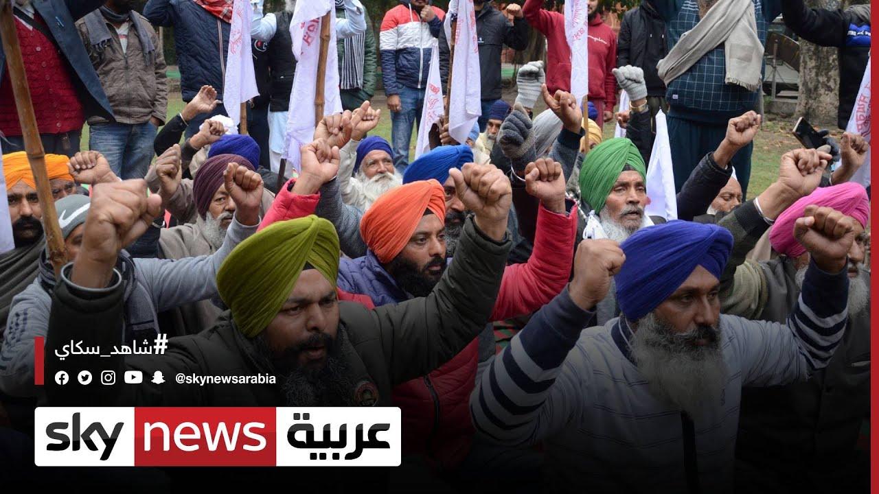 الهند   الفلاحون يضربون عن الطعام احتجاجا على قوانين جديدة
