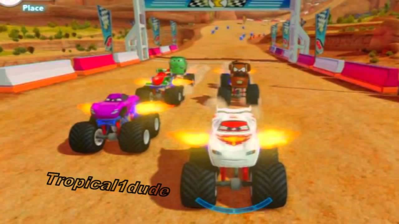 Cars Alive Crystal Lightning Mcqueen Monster Truck Race Disney