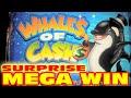 Whales of Cash - SURPRISE MEGA BIG WIN - Slot Machine Bonus