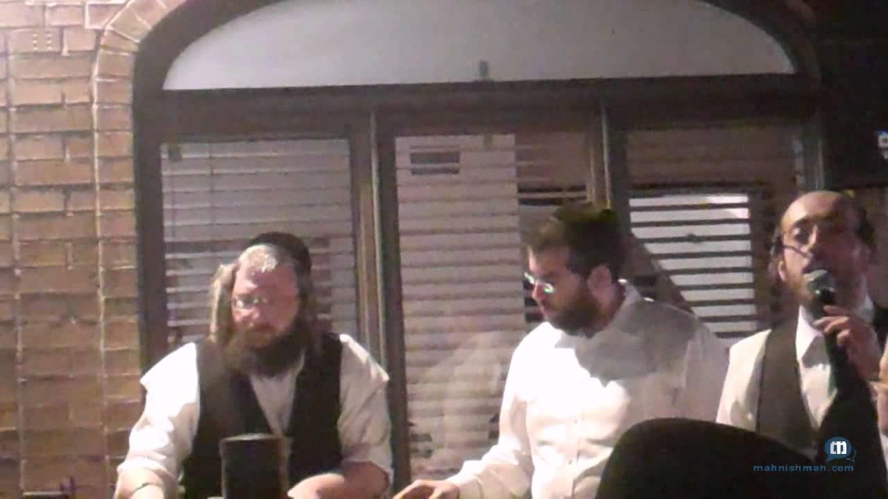 Arale Samet With Meir Adler At Bein Ish BBQ