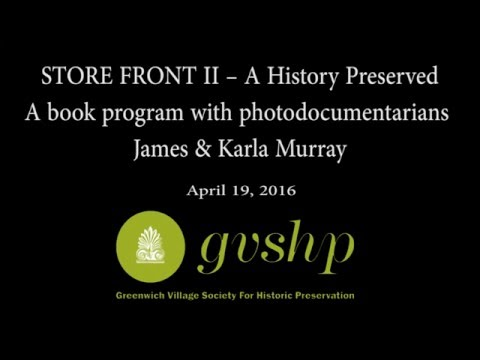 STORE FRONT II – A History Preserved: A book program with photodocumentarians James & Karla Murray