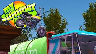 Epic moped ramp and jumps, can the moped jump the train in today's ...