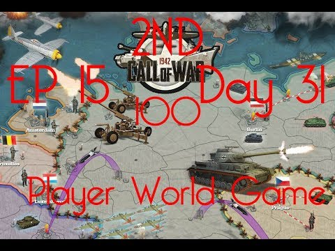 Call of War 1942 2ND 100 Player Fan Game, Day 31 EP15