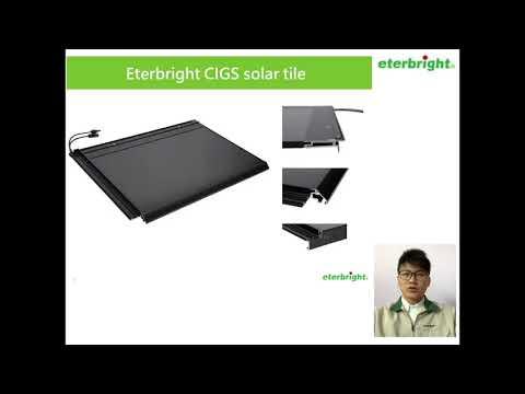eterbright CIGS solar products brief presentation