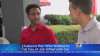 Man Who Walked To Work Gifted A Car