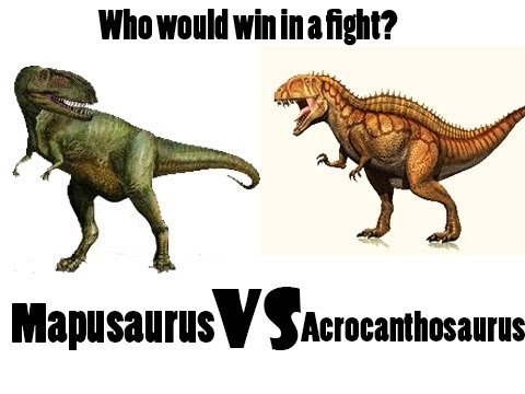 Acrocanthosaurus vs Mapusaurus - Who would win in a fight?