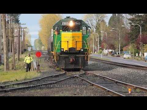 Willamette Valley Railway 2503 Switching & Work train