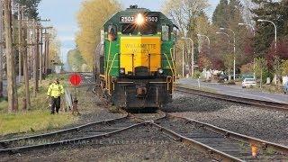 Willamette Valley Railway 2503 Switching & Work train 4.20.12