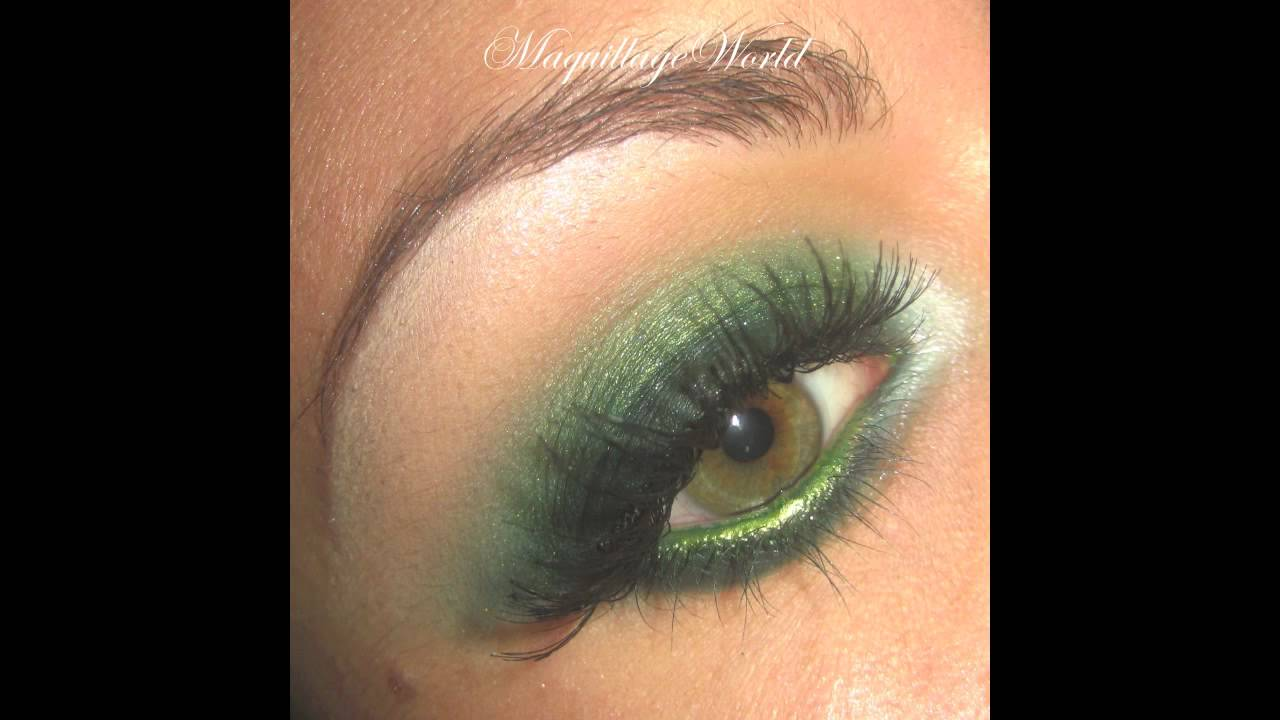 tutoriel de maquillage smoky intense vert avec glamour doll eyes youtube. Black Bedroom Furniture Sets. Home Design Ideas