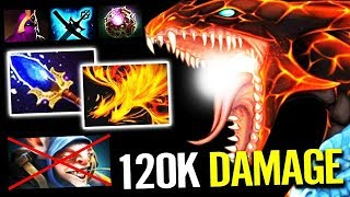 NEW MID !!! WTF 120k Damage - Jakiro solo mid lane with support Dota 2